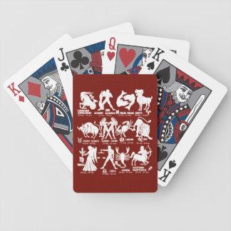 Tierkreis unterzeichnet Datums-Poker-Spielkarten Bicycle Spielkarten