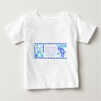 Tierkreis-Wasserhundgeborener Krebs mit 1982 2042 Baby T-shirt