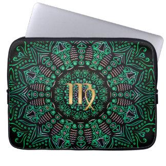 Tierkreis-Zeichen-Jungfrau-Mandala Laptop Sleeve