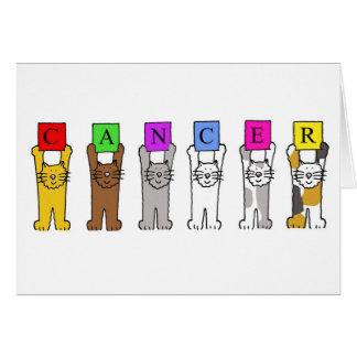 Tierkreis-Zeichen-Krebs mit Cartoonkatzen Karte