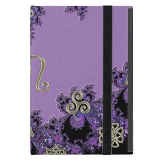 Tierkreis-Zeichen-Löwe-Lavendel-symbolische Hüllen iPad Mini Schutzhüllen