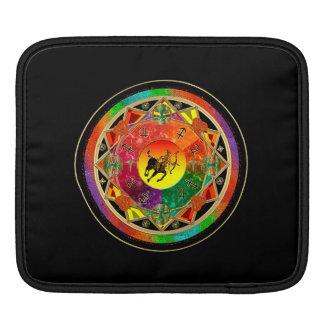 Tierkreis-Zeichen-Schütze-Mandala iPad Sleeve