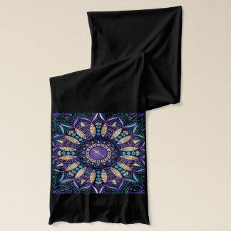Tierkreis-Zeichen-Schütze-Mandala Schal