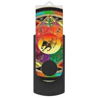 Tierkreis-Zeichen-Schütze-Mandala USB Stick