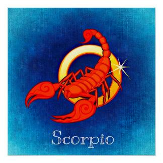 Tierkreis-Zeichen-Skorpions-Horoskop-Symbol-Plakat Poster