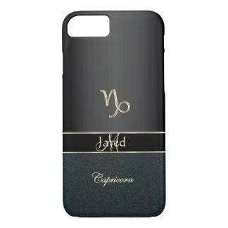 Tierkreis-Zeichen-Steinbock eleganter schwarzer iPhone 8/7 Hülle