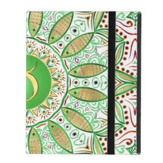 Tierkreis-Zeichen-Stier-Mandala ~ grünes Gold Hülle Fürs iPad