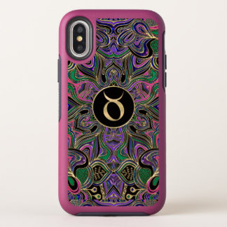 Tierkreis-Zeichen-Stier-Mandala iPhone X Fall OtterBox Symmetry iPhone X Hülle