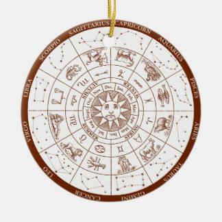 Tierkreiszeichen Rundes Keramik Ornament