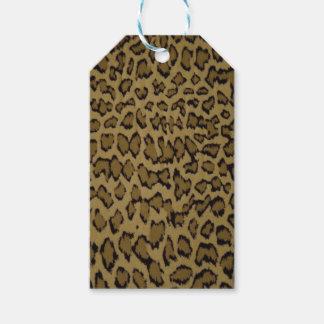 TIERleopard-DRUCK Geschenkanhänger