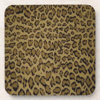 TIERleopard-DRUCK Getränkeuntersetzer