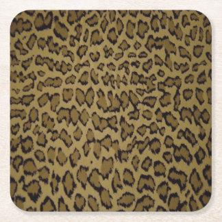 TIERleopard-DRUCK Rechteckiger Pappuntersetzer