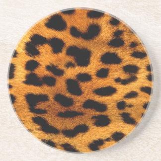 Tierleoparddruck der Stammes- Fashionistasafari Getränkeuntersetzer