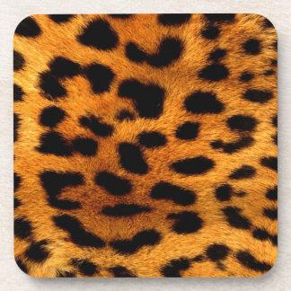 Tierleoparddruck der Stammes- Fashionistasafari Untersetzer