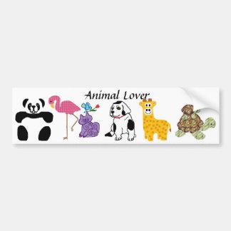 Tierliebhaber-Autoaufkleber Autoaufkleber