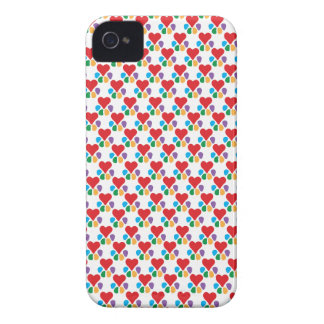 TierLover_Heart-Paw (Muster) Case-Mate iPhone 4 Hülle