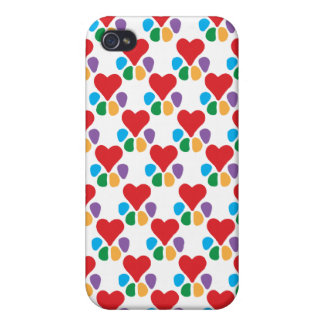 TierLover_Heart-Paw (Muster) iPhone 4 Cover
