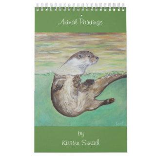 Tiermalereien von Kirsten Sneath Abreißkalender