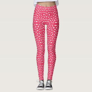 TierPattern#23b Designer-Rosa-Weiß Legging Leggings