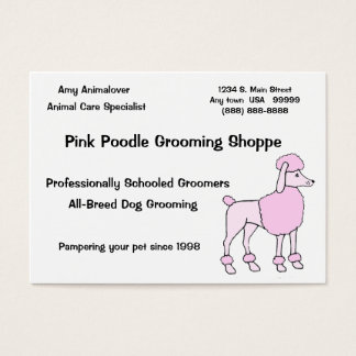 Tierpflege-Spezialist Visitenkarte