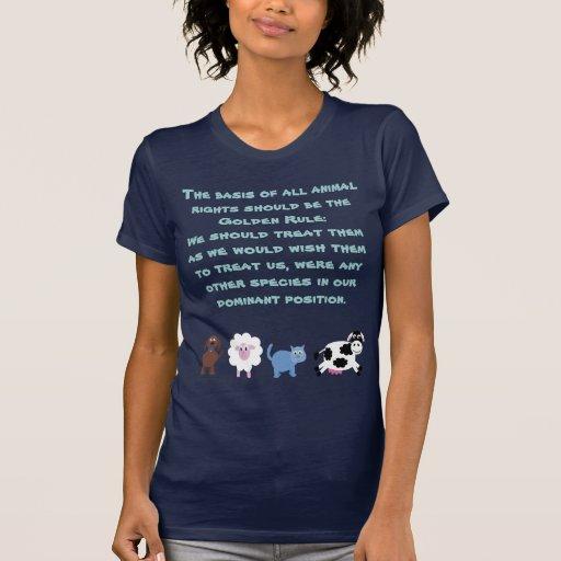 Tierrecht-goldene Regel-niedliche Cartoon-Tiere T Shirts
