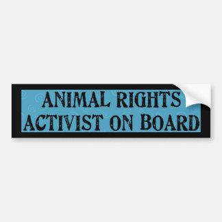 Tierrechte Auto Sticker