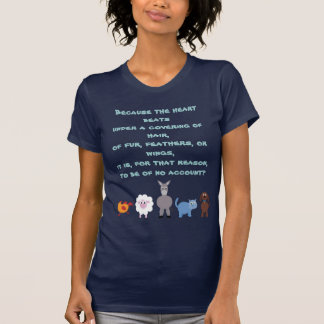 Tierrechte zitieren niedliche Cartoon-Tiere T-Shirt