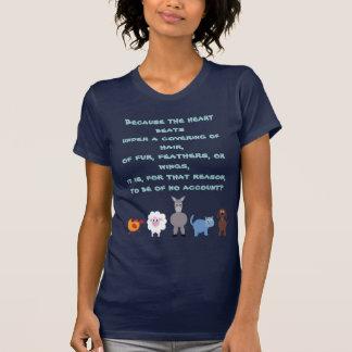 Tierrechte zitieren niedliche Cartoon-Tiere Shirt