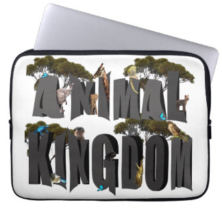Tierreich-Logo mit Tieren, 13 Zoll Laptopschutzhülle