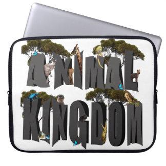 Tierreich-Logo mit Tieren, 15 Zoll Laptopschutzhülle