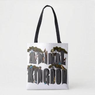 Tierreich-Logo mit Tieren, Tasche