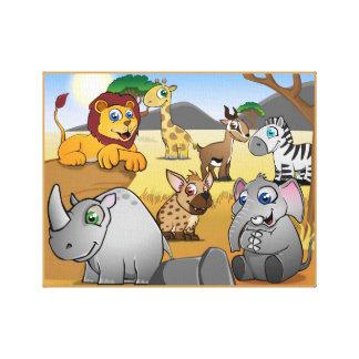 Tierreich Savana Galerie Faltleinwand