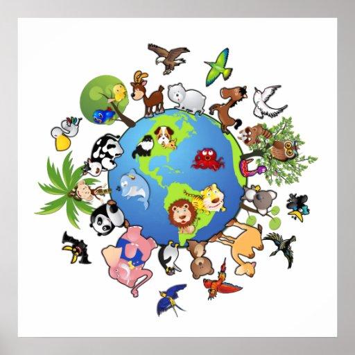 Tierreich: Tiere auf der ganzen Welt Posterdrucke