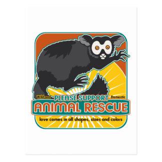 TierrettungLemur Postkarte