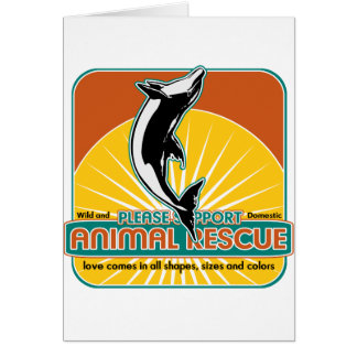 Tierrettungs-Delphin Grußkarte