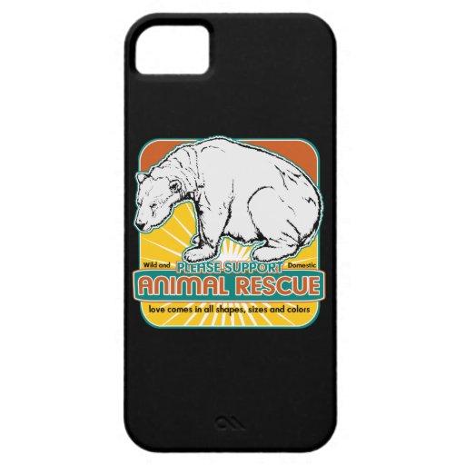 Tierrettungs-Eisbär iPhone 5 Schutzhülle