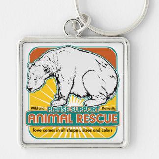 Tierrettungs-Eisbär Schlüsselbänder