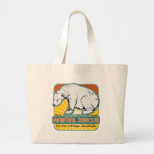 Tierrettungs-Eisbär Einkaufstasche