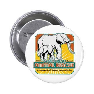 Tierrettungs-Elefanten Anstecknadelbutton