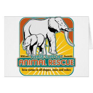 Tierrettungs-Elefanten Karte