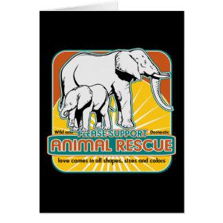 Tierrettungs-Elefanten Grußkarten