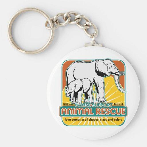 Tierrettungs-Elefanten Schlüsselband