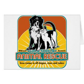 Tierrettungs-Hund und Katze Grußkarte