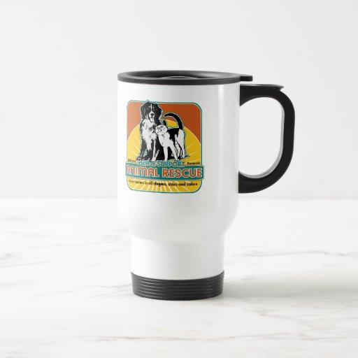 Tierrettungs-Hund und Katze Kaffeehaferl