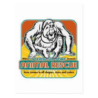 Tierrettungs-Orang-Utan Postkarten