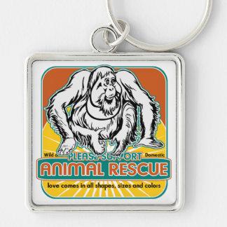 Tierrettungs-Orang-Utan Schlüsselbänder