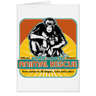 Tierrettungs-Schimpanse Grußkarte