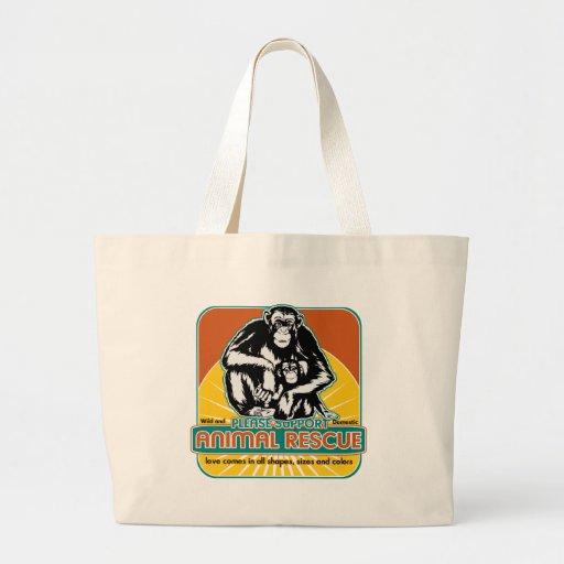 Tierrettungs-Schimpanse Einkaufstaschen