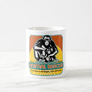 Tierrettungs-Schimpanse Teetassen