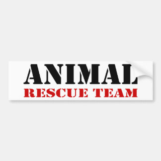 Tierrettungs-Team-Autoaufkleber